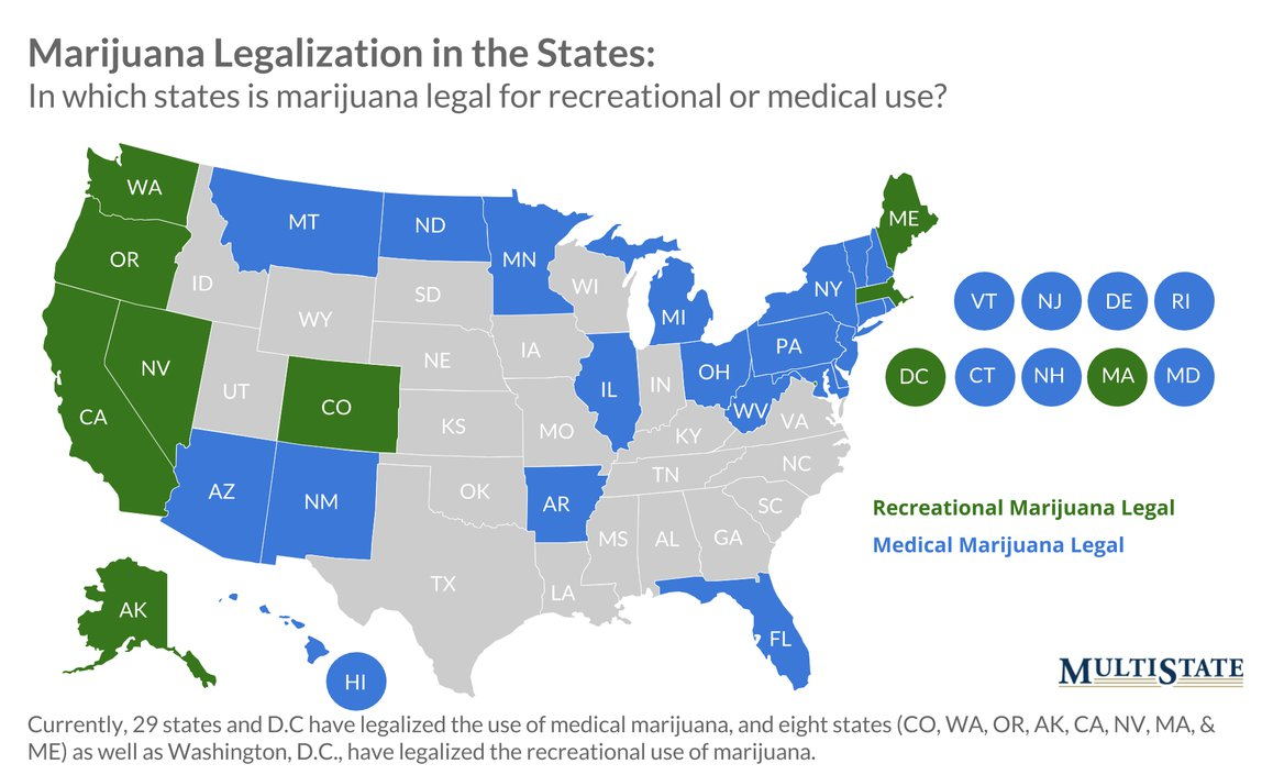 West Virginia Becomes 29th State to Legalize Medical Marijuana